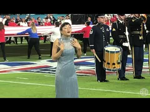 "Shoutout to Christine Sun Kim who ""signed"" the National Anthem at Super Bowl last night."