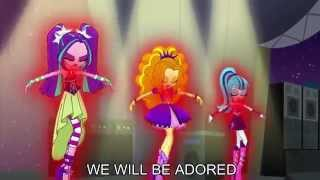 From My Little pony Equestria girls : Rainbow Rocks Song : Welcome to the show Written by : Daniel Ingram.