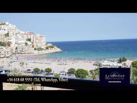 Luxury apartment in Benidorm on the first line of the sea with 3 bedrooms. With discount - 367.500 euros