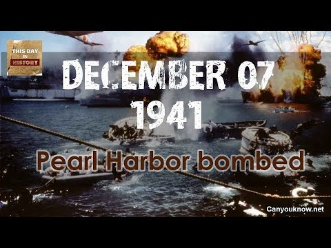 Pearl Harbor bombed December 7, 1941 This Day in History