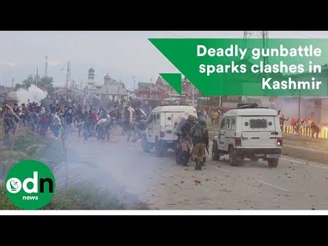 Deadly gunbattle sparks clashes in Kashmir