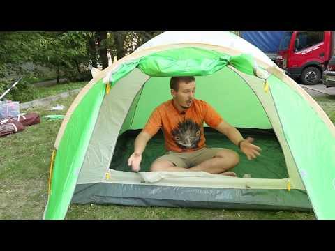 Треккинговая палатка Greenell «Дом 3» серия First Step. Видеообзор.