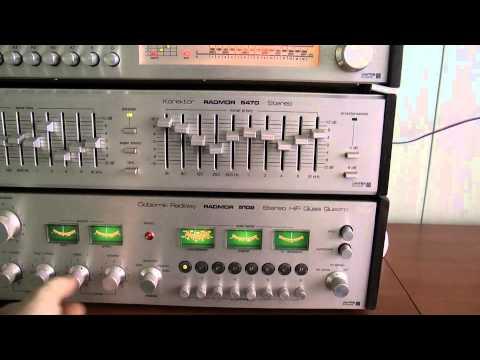 Unitra Radmor Amplituner Quasi Quadro  5102 Tuner AM 5122  Korektor 5470