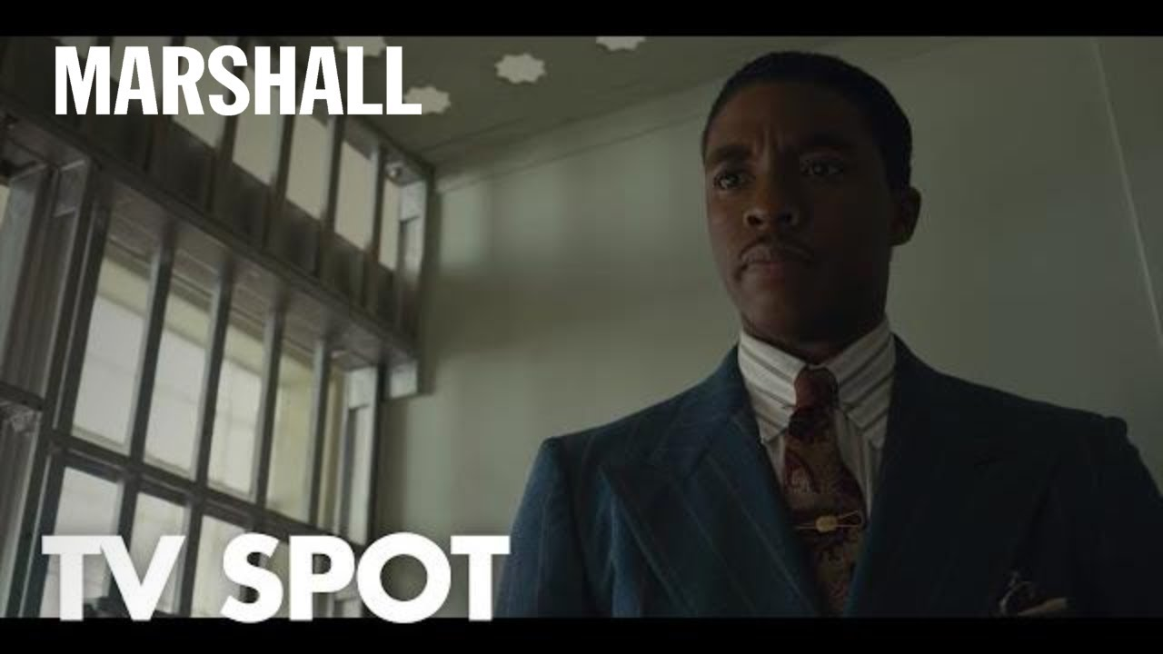 Witness the Rise of the Man who Changed America. Chadwick Boseman is Legendary Supreme Court Justice Thurgood 'Marshall' with Josh Gad & Sterling K. Brown