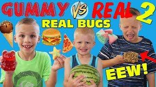 Makanan Gummy vs Tantangan Makanan Sejati - Makan KOTOR BUG NYATA!