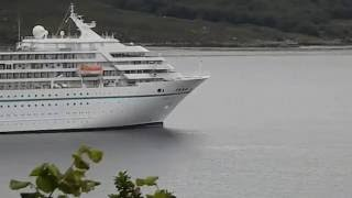 Ullapool United Kingdom  city photos : Cruise liner Amadeu moored in Ullapool Harbour Scotland UK