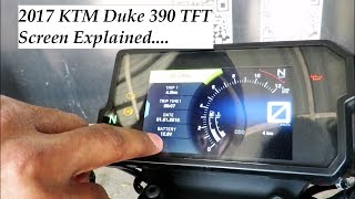 4. 2017 KTM Duke 390 TFT Screen Explained in Detail at the Launch Event in Hyderabad.