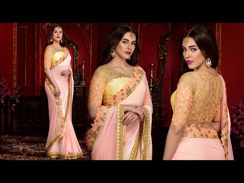 Party Wear Sarees Fancy New Styles Designs Collection: Designer Georgette & Chiffon Saree Online