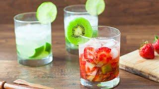 Caipirinha fraise-kiwi