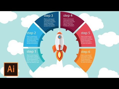 Illustrator Tutorial | Rocket Launch - Round Infographic Design Step By Step (FREE DOWNLOAD)