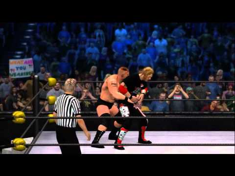 WWE 12 Gameplay: Brock Lesnar vs. Edge at Clash of the Champions (Xbox 360)
