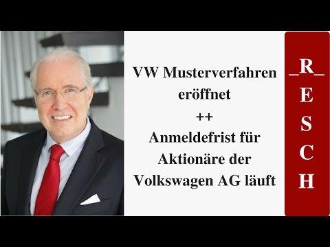 VW Musterverfahren eröffnet - Anmeldefrist für Aktionäre der Volkswagen AG läuft