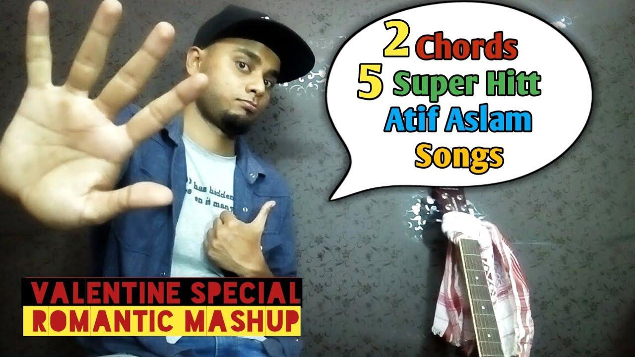 2 Chords Atif Aslam Guitar Mashup | 5 Hitt Bollywood Songs Romantic Love Mashup – Valentine Special