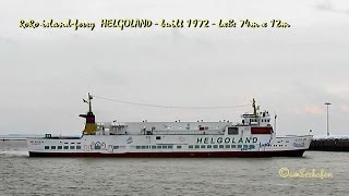 Borkum Germany  city photo : RoRo island ferry HELGOLAND DCNN IMO 7217004 shuttle Emden island Borkum Germany Inselfähre BJ 1972