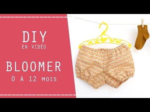 DIY ET PATRON : BLOOMER 0-12 mois