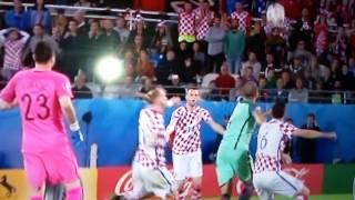 Komentator HRT-a na kraju utakmice Hrvatska - Portugal
