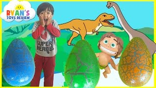 Dinosaur Eggs Surprise Toys Opening with Ryan ToysReview