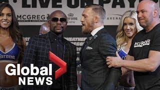 Video Floyd Mayweather vs. Conor McGregor final press conference ahead of fight MP3, 3GP, MP4, WEBM, AVI, FLV Juni 2019