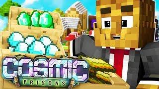 I'M A COSMIC SPACE PRISONER! - Minecraft Prisons COSMIC JAIL BREAK #2