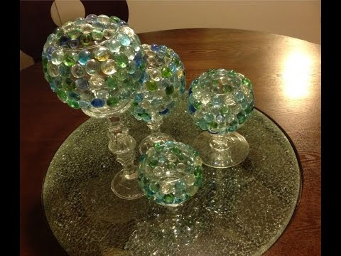 D.I.Y Glass Beads Candle Vases | Goodwill && Dollar Tree