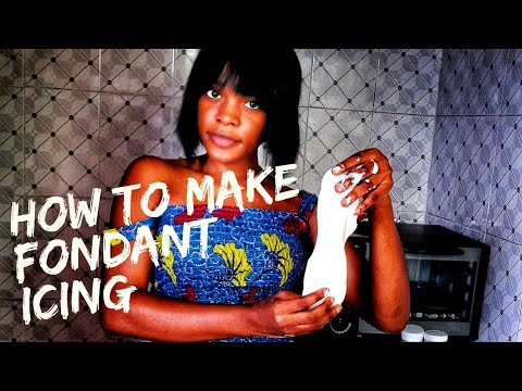 How to make fondant icing in Nigeria | easy fondant recipe