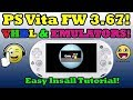 PS Vita 3.67! VHBL & Emulators INSTALLATION! With PSP DEMO Install!