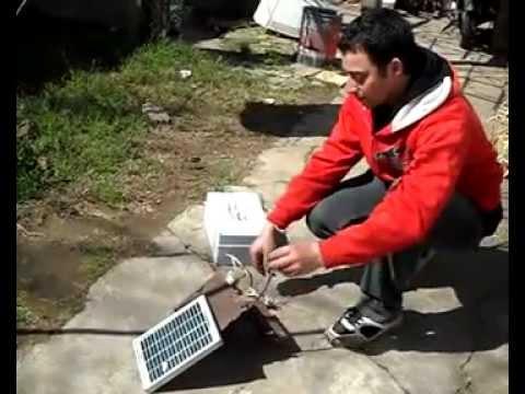 electrificador de alambrados prueba real con panel solar