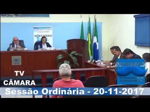 Sessão ordinária do dia 20/11/2017