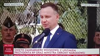 Duda na uroczystościach w Mińsku Maz. witał burmistrza, którego… nie zaproszono