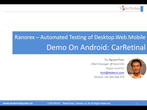 Ranorex – Demo Android application testing