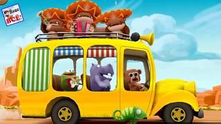 Wheels on the bus. Английские песенки для детей. Song for kids.
