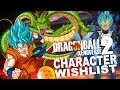 Top ten character wishlist for DragonBall Xenoverse 2
