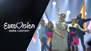 Live performance in the first Semi-Final of Beauty Never Lies representing Serbia at the 2015 Eurovision Song Contest.