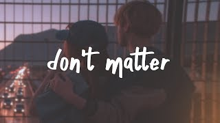 lauv - don't matter (lyric video)