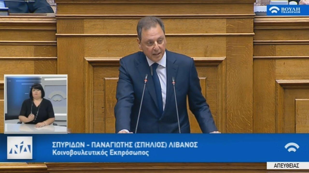 Ομιλία του κοινοβουλευτικού εκπροσώπου της ΝΔ Σ. Λιβανού στη Βουλή