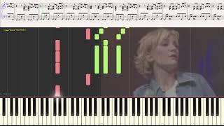 Entrer dans la lumiere - Patricia Kaas (Ноты и Видеоурок для фортепиано) (piano cover)