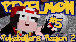 Minecraft Pixelmon: Pokeballers Server Region 2 - Episode 5 - ARON IT UP!!