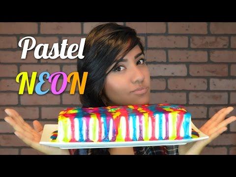 como hacer pasteles - En este video les quiero compartir como hacer un pastel 3 leches color Neon, que les parece la decoración? Aquí una receta de panque casero, por si prefieren...