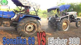 Sonalika 60 vs Eicher 380 Tractor Tochan Muqabla