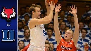 Duke vs. Marist Men's Basketball Highlights (2016-17)