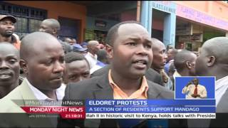 Monday Night News:  Eldoret Residents Protest In Support Of Mandago's Case On VC's Choice Debacle In