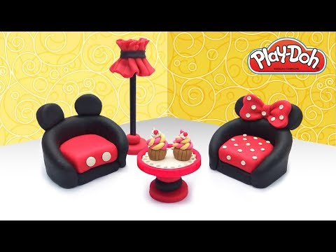 Mickey Mouse&Minnie Dollhouse Furniture. DIY Cute Dolls Stuff. Play Doh Crafts for Kids & Beginners