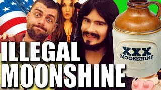 Irish People Try 'ILLEGAL' American Moonshine!! - (153% Proof)