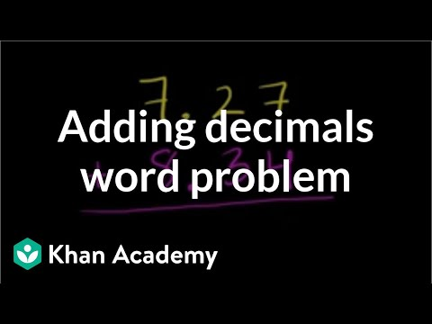 Adding decimals word problem