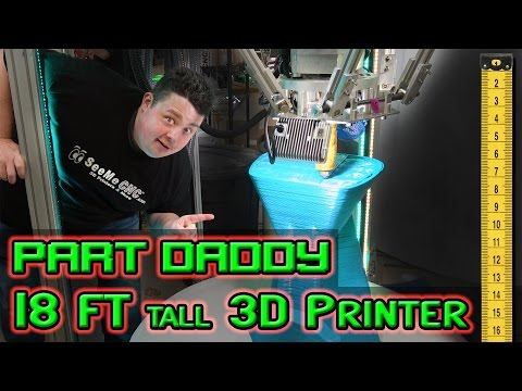 Massive Delta 3D Printer Standing 18 Feet Tall Printing Furniture (видео)