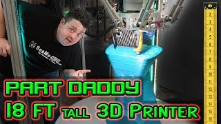I review a giant record breaking 18 foot tall delta 3D printer SeeMeCNC built and named the Part Daddy. This printer has a giant build volume that is fed by 50 gallon bins of plastic beads so it can print 24 hours a day 7 days a week uninterrupted. This thing prints out furniture that supports my weight. The whole thing can be purchased for $49,000 USD and put on your front lawn and only needs a standard 110v outlet to operate. ▼ Enjoy what I do? Help keep me doing it with a small contribution ▼PayPal @ http://bit.ly/helpbarnacules (Include a message!)▼ Purchase your own Part Daddy for only $49,000 USD ▼https://www.seemecnc.com/products/partdaddy-large-format-delta-3d-printer▼Come follow me on social media for behind the scenes stuff 24/7▼Twitter - http://twitter.com/barnacules (*My most active network)Instagram - http://instagram.com/barnacules Facebook - http://facebook.barnnerd.comBlog - http://blog.barnnerd.com▼ I also live stream on Twitch TV ▼https://www.twitch.tv/barnacules▼ Discount on GT Omega Racing Office Chair ▼GT Omega Chairs @ http://bit.ly/1lA4h4K-or-Use code 'NERDGASM' at checkout!▼ Links to Equipment & Software I use to produce these videos ▼ Sony FDR-AX53 4k Camera - http://amzn.to/2hkJBo9Sony FDR-AX33 4k Camera - http://amzn.to/2hc6L1RSony NP-FV100 Extended Battery - http://amzn.to/2hhZYV0Manfrotto Professional Fluid Video Tripod - http://amzn.to/2grdC8sManfrotto Ballhead (Existing Tripod) - http://amzn.to/2gyCfyvJoby Gorilla Pod Focus - http://amzn.to/2hkJ6dFJoby Gorilla Pod Standard - http://amzn.to/2gNOCo4Joby Gorilla Pod Ballhead - http://amzn.to/2hi0jXLSennheiser MKE-440 Microphone - http://amzn.to/2hhEIfcZoom H6N Audio Recorder - http://amzn.to/2gyCn10Zoom H4N Audio Recorder - http://amzn.to/2hkNSbcAudio-Technica ATR3350 Lavaliere Microphone - http://amzn.to/2gyClGlLarge Aputure Light Storm LED Light Panel - http://amzn.to/2gNPdWQ Smaller Aputure LED Light Panel - http://amzn.to/2gNNKjjePhotoInc 500 LED Light Panels (Cheaper) - http://amzn.to/2gO2kY3Compact CFL lighting kit (Budget) - http://amzn.to/2gyAOQLAdobe Creative Cloud Software - http://adobe.com Sony Vegas Editing Software - http://amzn.to/2hi1tCkSony Vegas 7 (old, but free) - http://www.sonycreativesoftware.com/d...Davinci Resolve Editing Software - https://www.blackmagicdesign.com/prod...▼ Join My Folding@Home Team And Let's Find A Cancer Cure ▼Barnacules Nerdgasm Team # 231300Download Client @ http://folding.stanford.edu/** Top 10 contributors shown on Twitter weekly!