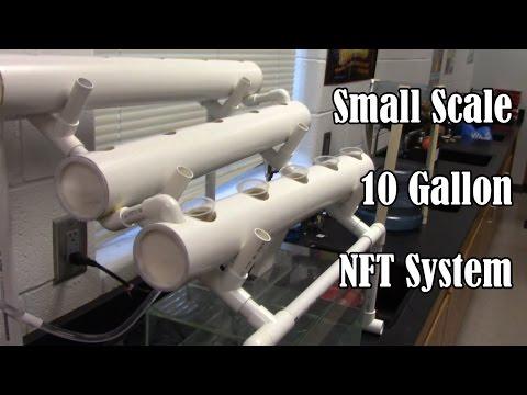 $40 PVC Starter NFT Aquaponics System