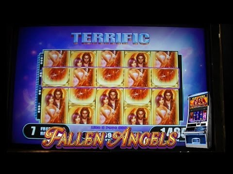Fallen Angels FULL SCREEN + PROGRESSIVE JACKPOT Slot Machine Bonus SUPER MEGA BIG WIN