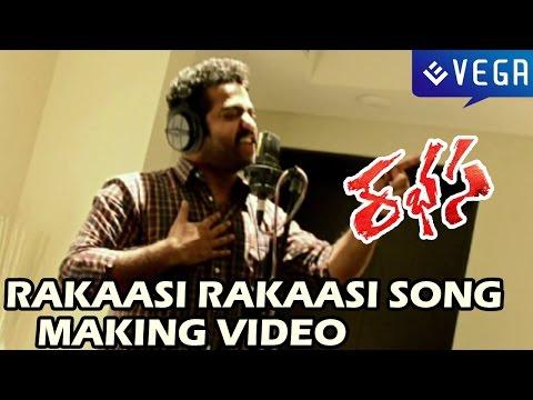 Rakaasi Rakaasi Song Making - Jr NTR Singing Video - Rabhasa Movie - Rakasi Rakasi