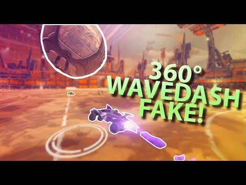 Funny clips - 360 WAVEDASH FAKE! (Rocket League Funny Moments #12)